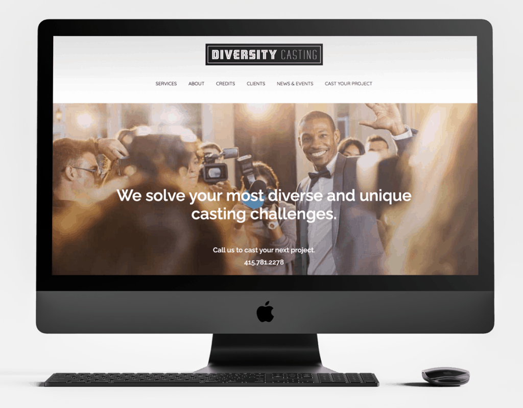 Diversity Casting Website Design Sample