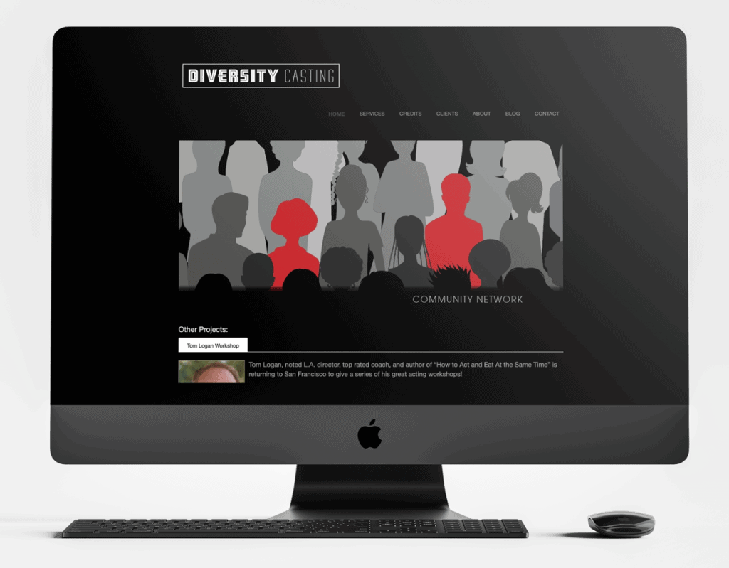 Diversity Casting before Launch in 5 website redesign.