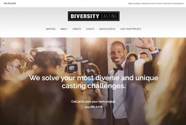 Diversity Casting Website Design