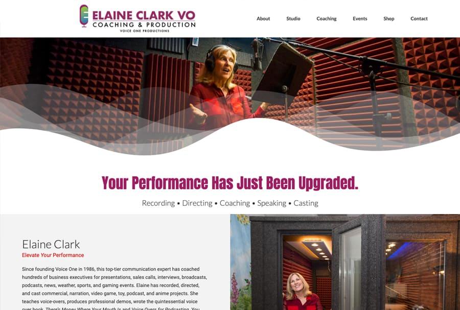 Elaine Clark VO Website Design