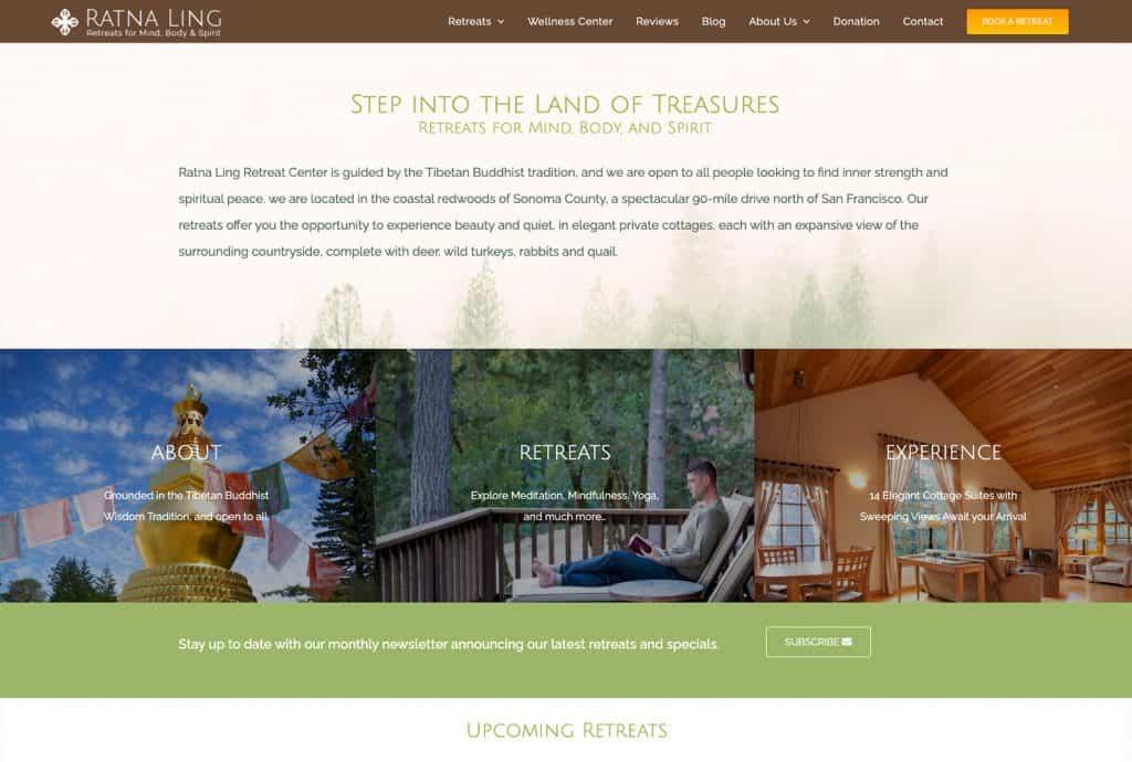 Ratna Ling Retreat Website Design