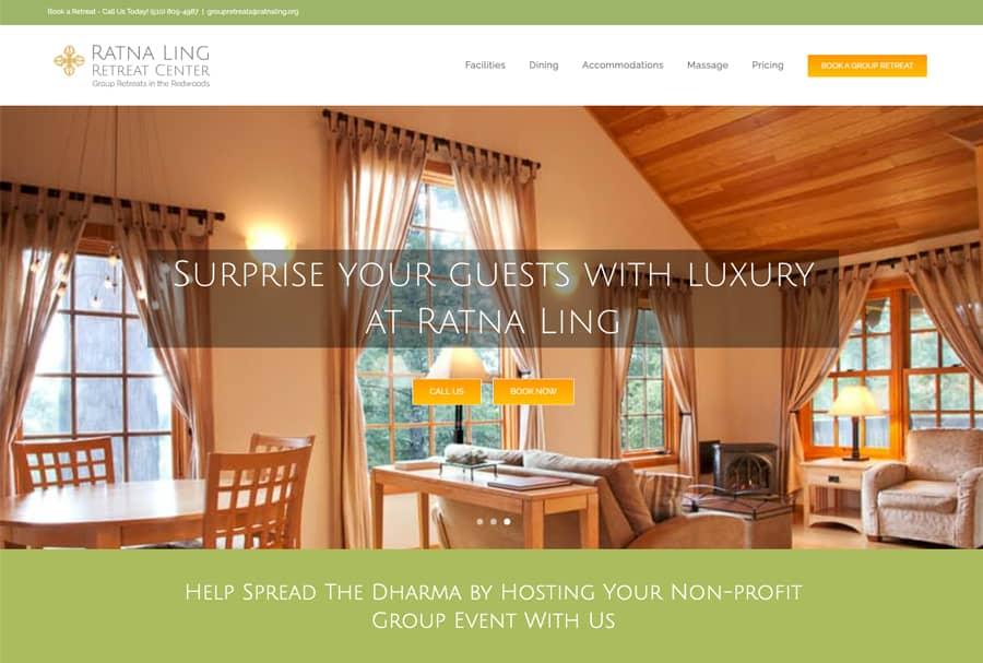 Ratna Ling Retreat Booking Site