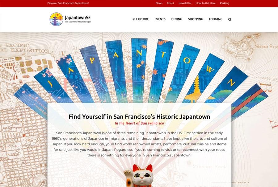 Japantown SF Website Design